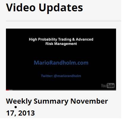 Weekly Summary November 17, 2013